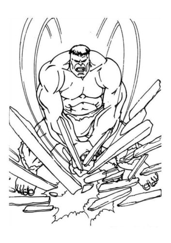 Free Printable Hulk Coloring Pages For Kids Awesomeredible ... | 500x353
