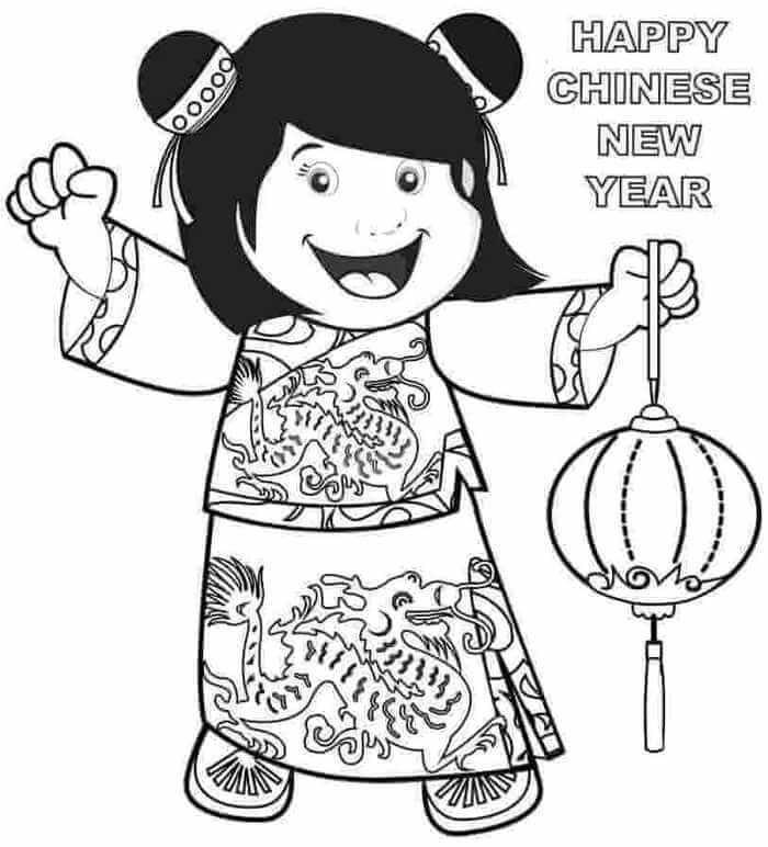 Girl Celebrating Chinese New Year