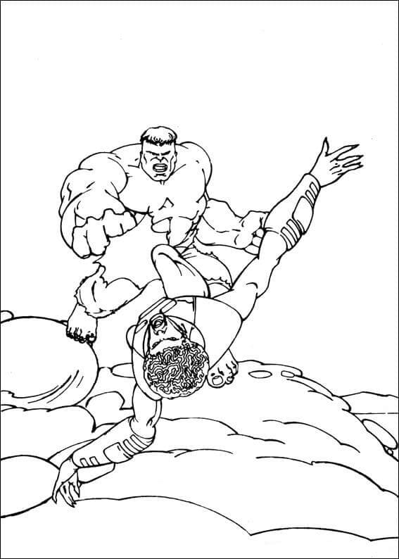 Hulk And Samuel Sterns Coloring Page