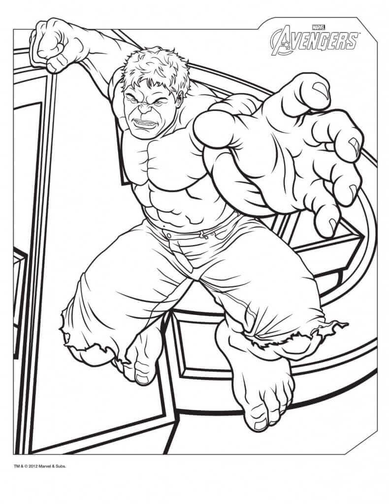 Hulk Avenger Coloring Page