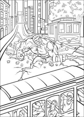 Hulk Colouring Pages
