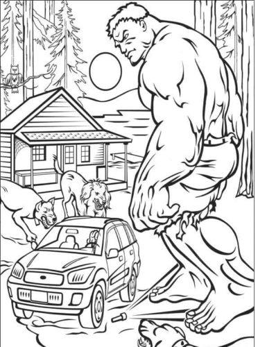 Hulk Film Coloring Page