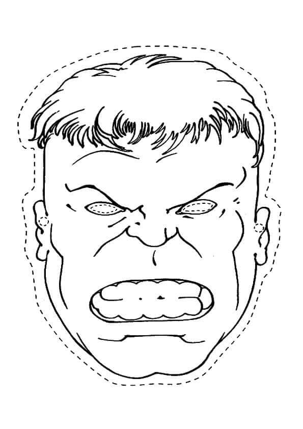 Hulk Mask Cutout