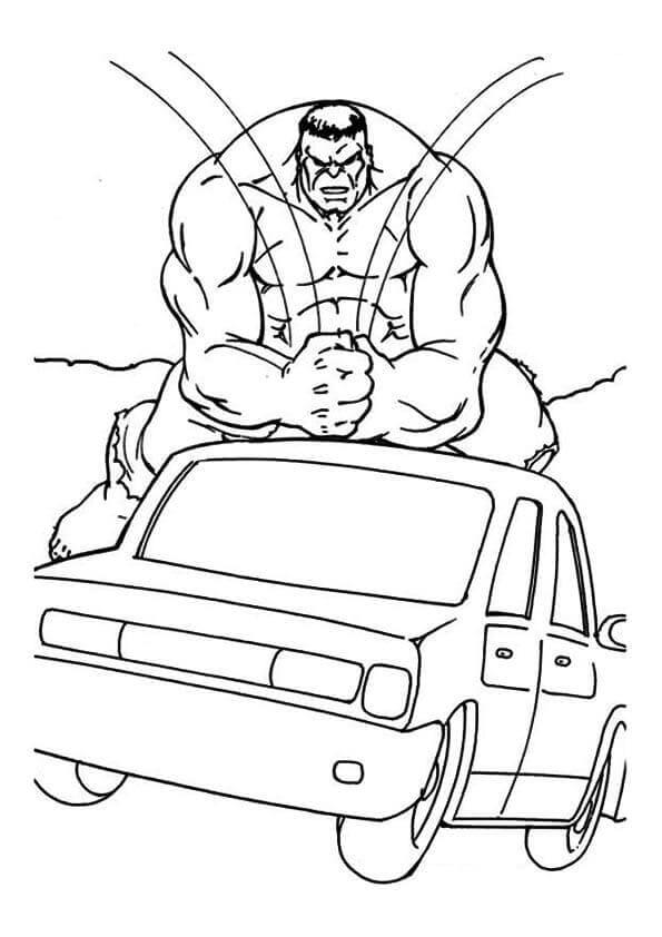 Hulk Smashing A Car