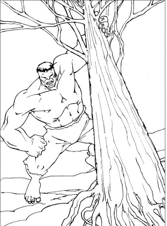 Hulk Uprooting The Tree