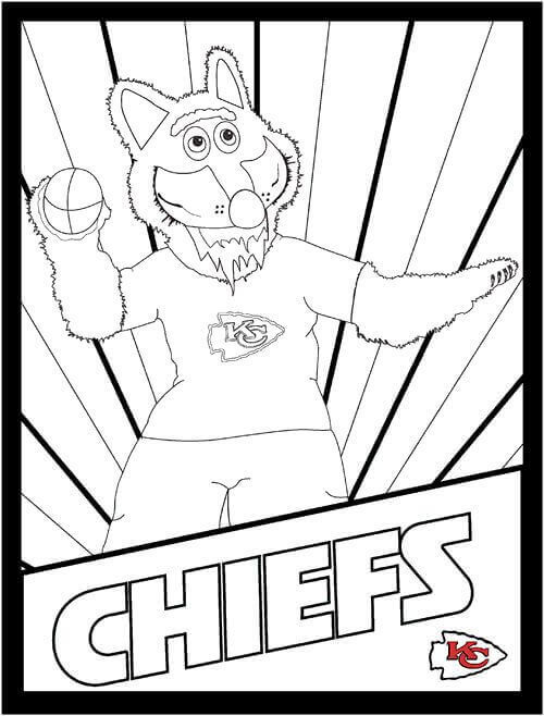 Kansas City Chiefs Mascot Wolf