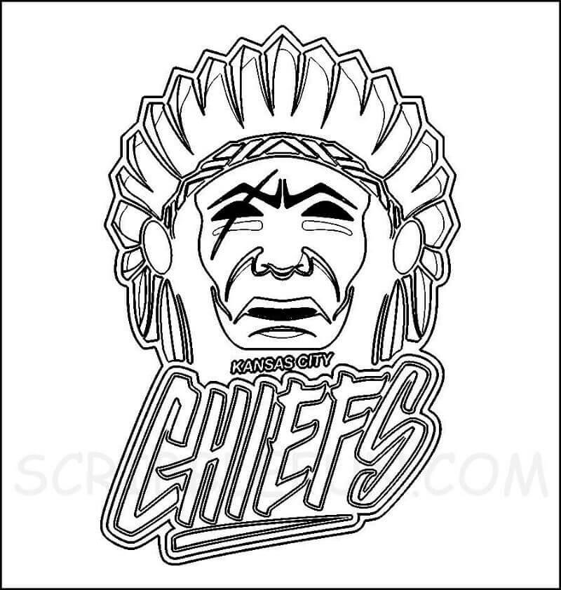 Kansas City Chiefs headdress colring page