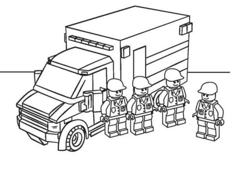 Lego Colouring Pages