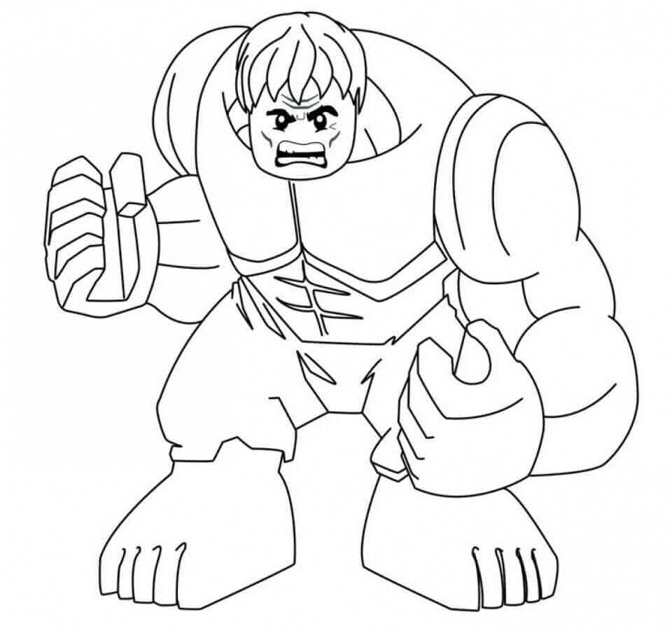 Lego Hulk Coloring Page