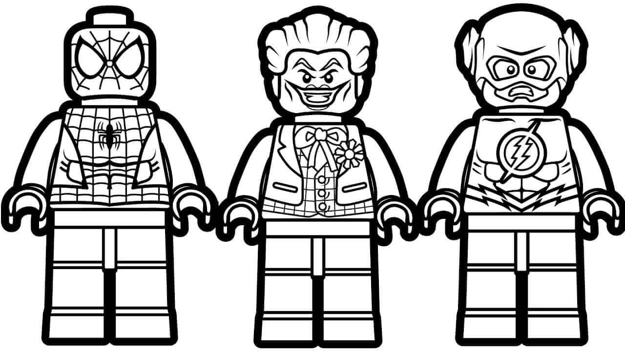 Lego Spiderman Lego Joker and Lego Flash