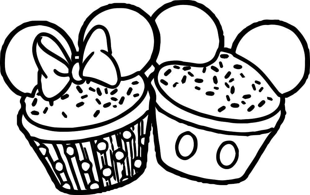 Mickey Minnie Cupcake
