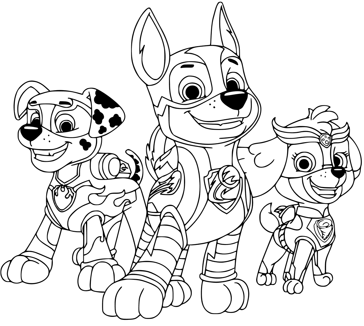 Paw Patrol Mighty Pups In Action