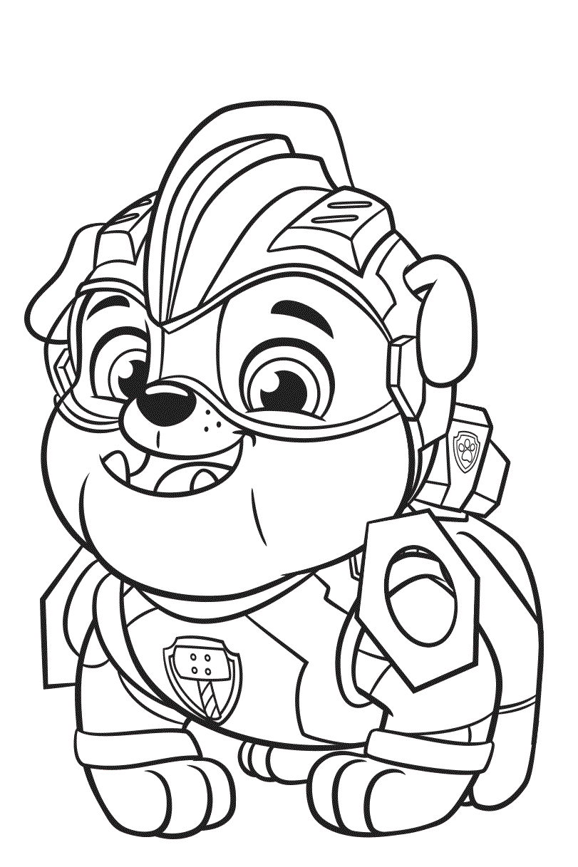 Rubble Paw Patrol Mighty Pups