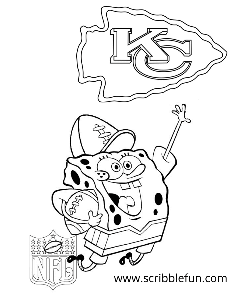 SpongeBob Cheering For Kansas City Chiefs