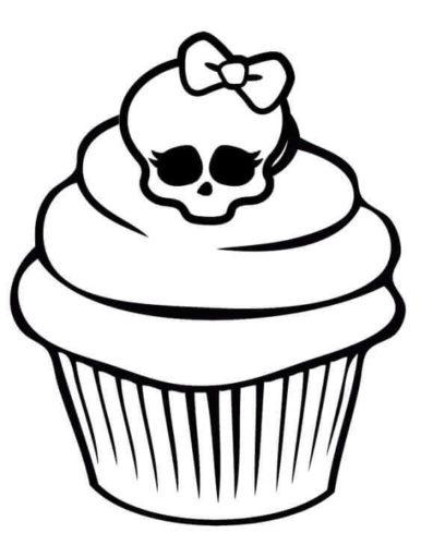 Sugar Skull Cupcake