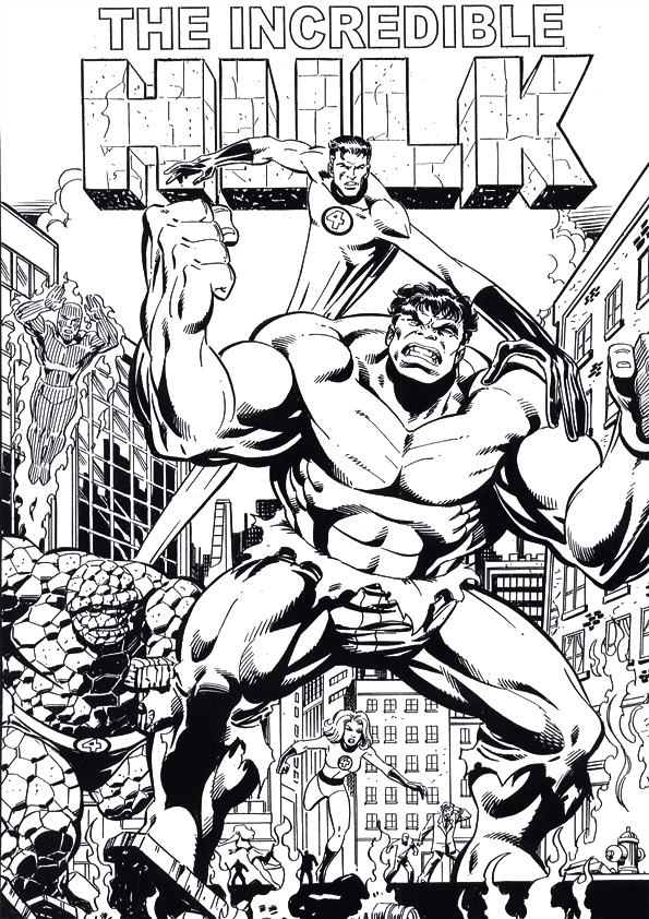 The Incredible Hulk Coloring Pages