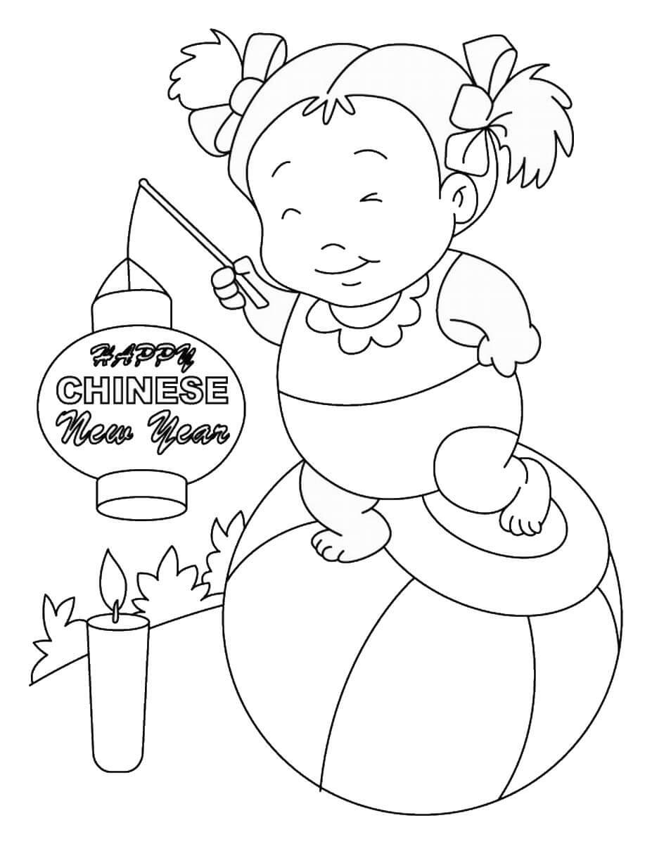 Toddler Wishing Chinese New Year