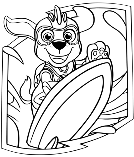 10 Free Paw Patrol Mighty Pups Coloring Pages Printable