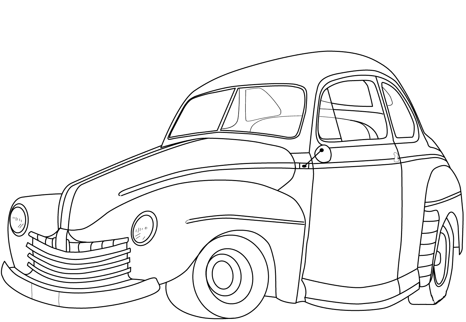 1946 Plymouth De Luxe Cuope coloring page