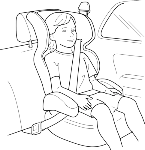 Car Safety Coloring Page