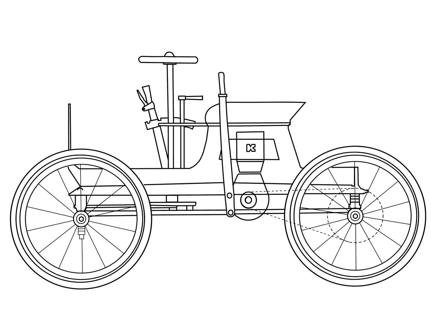 Charles B. King 1893 First Car Design