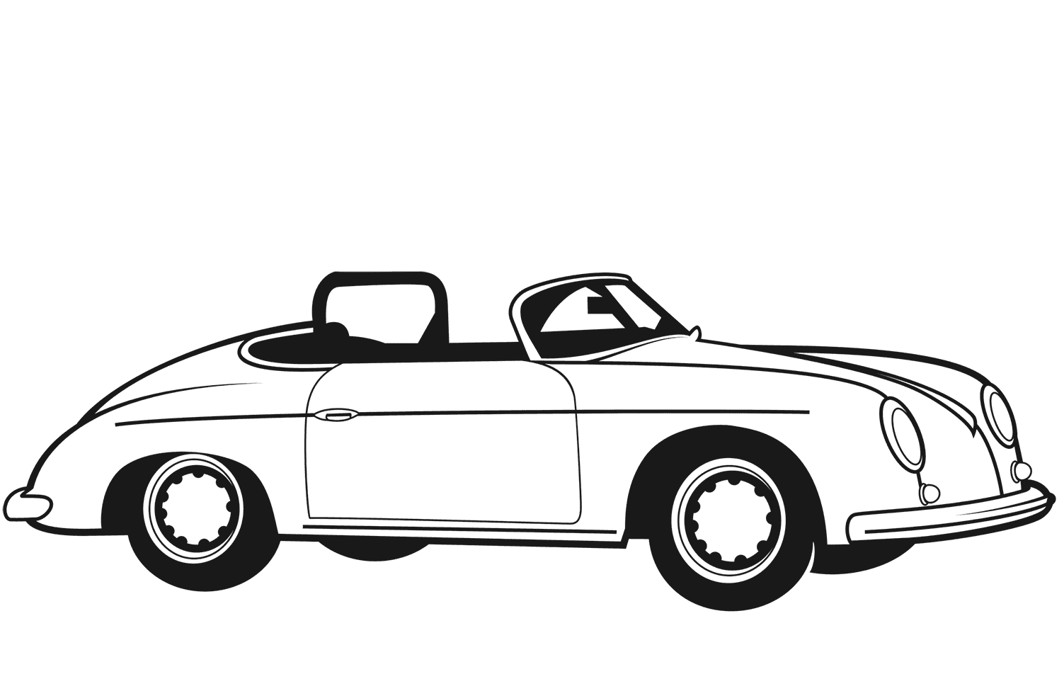 Classic Convertible Car coloring page