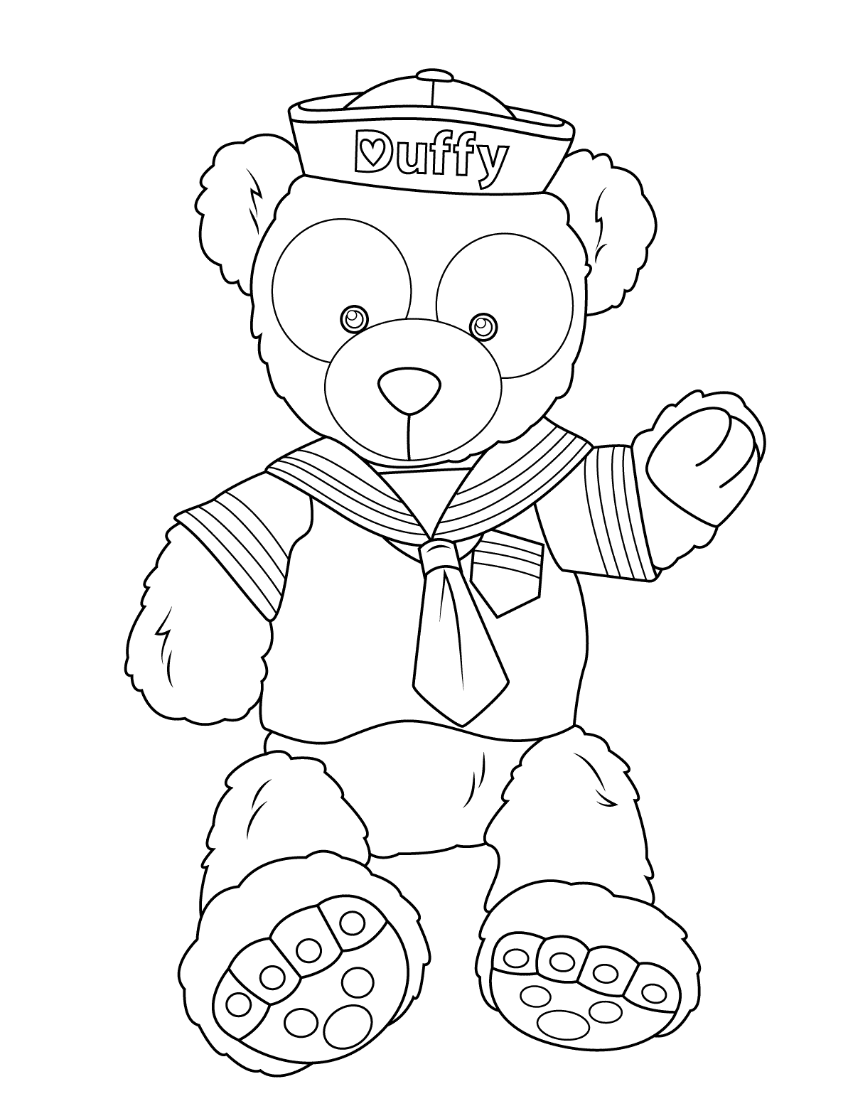 Duffy the Disney Bear Coloring Page