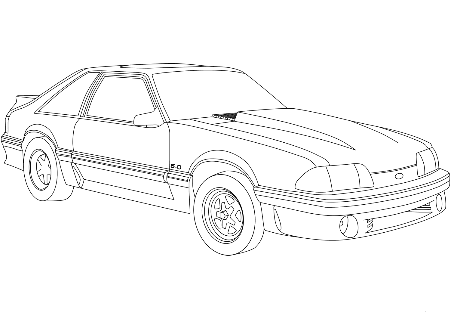 Ford Mustang Coloring Pages