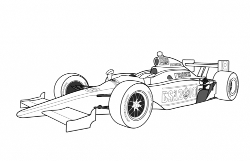 Formula One Race Car Coloring Page