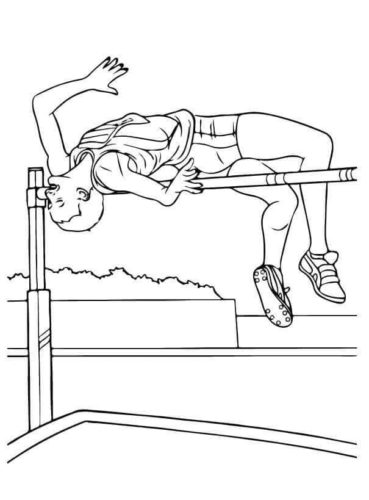 High Jump Olympic Coloring Page