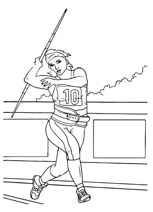 Javelin Throw olympic games coloring Page