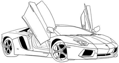 Lamborghini coloring page