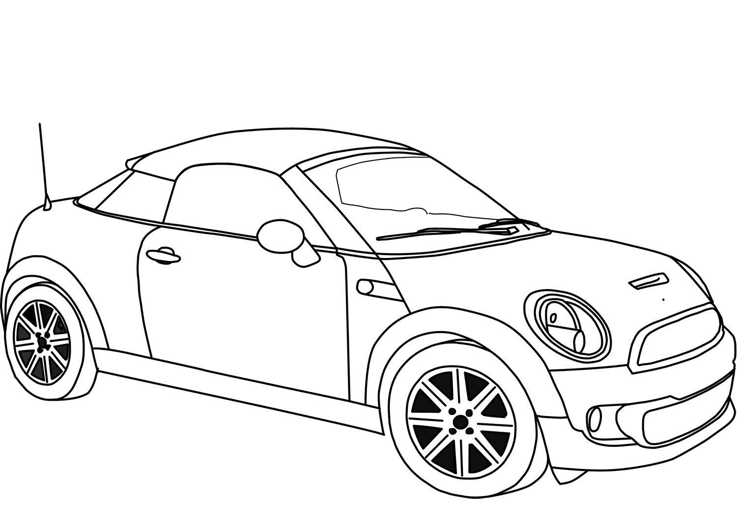 Mini Cooper Coupe coloring page