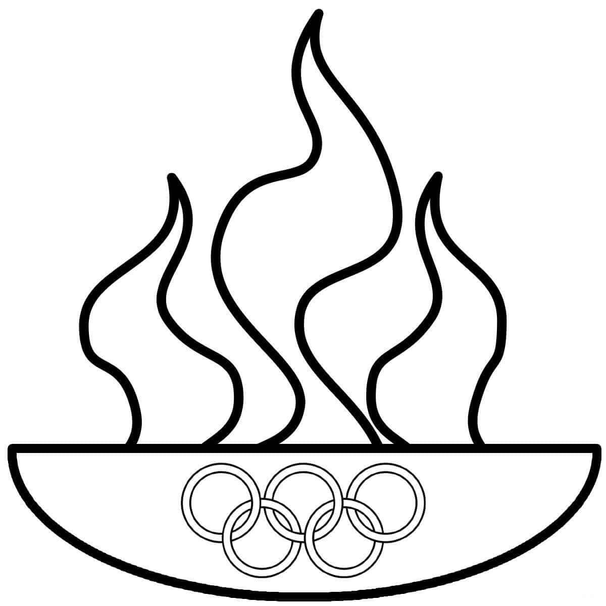 Olympics Flame Coloring Page