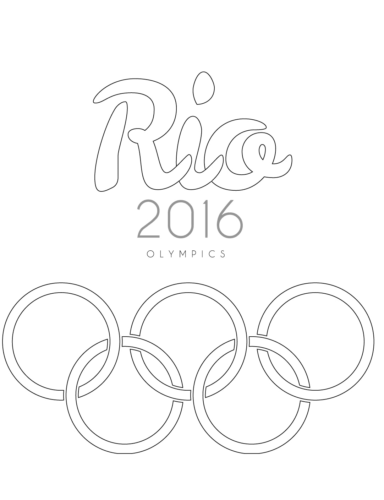 Rio 2016 Olympics coloring page