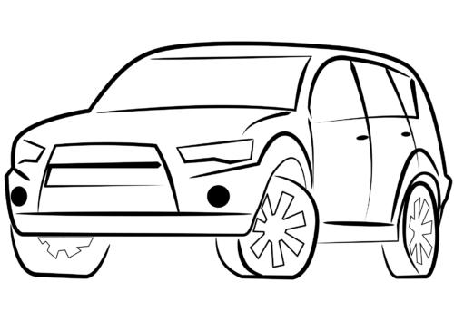 SUV Car Coloring Page