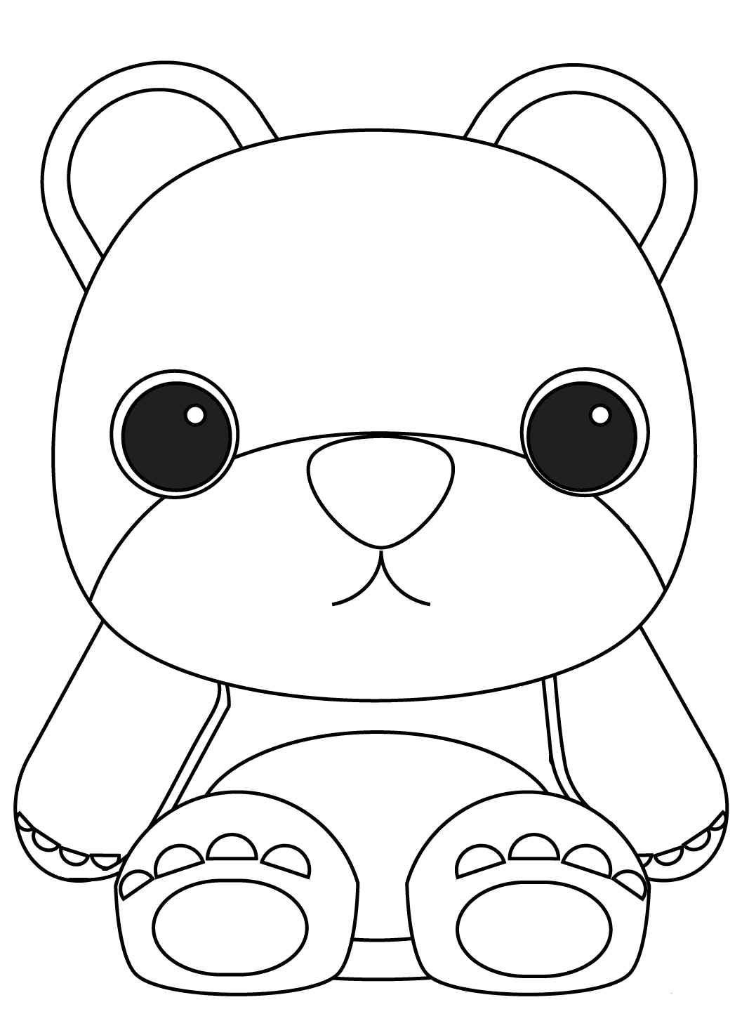 Teddy Bear Coloring Page For Preschoolers