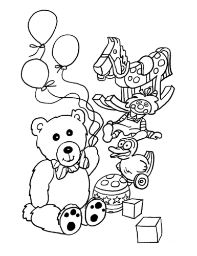 Teddy Bear Coloring Pictures