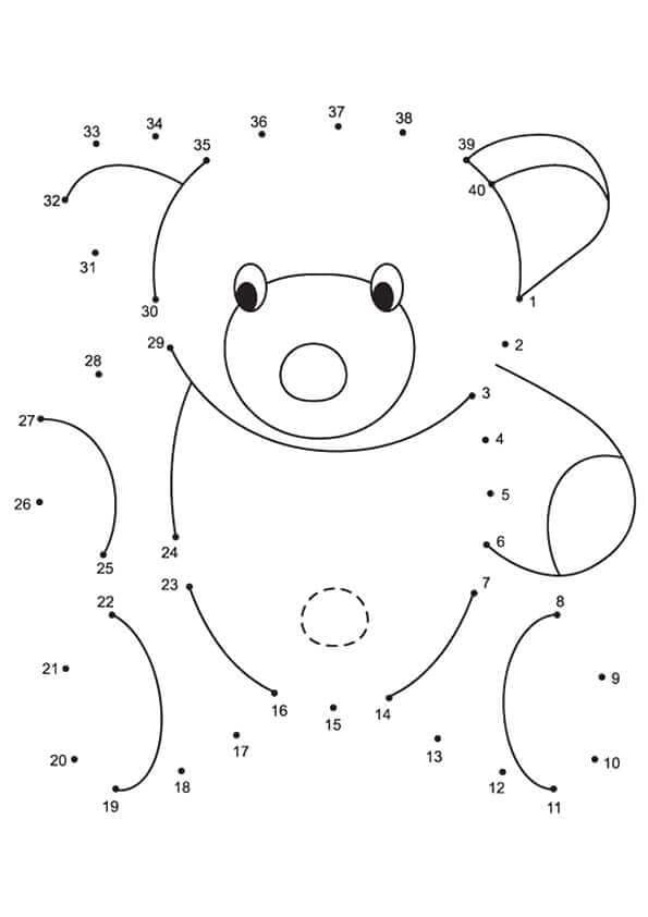 Teddy Bear Connect The Dots