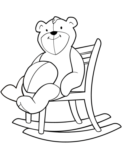 Teddy On A Rocking Chair