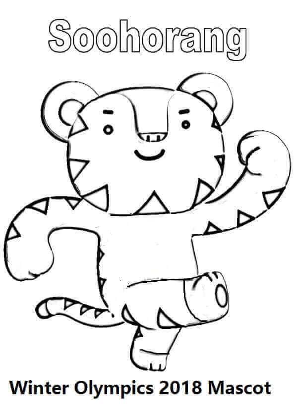 Winter Olympics 2018 Mascot Coloring Page Soohorang