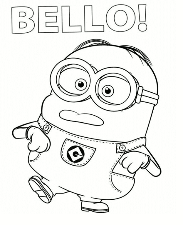 Bello Minion Coloring Page