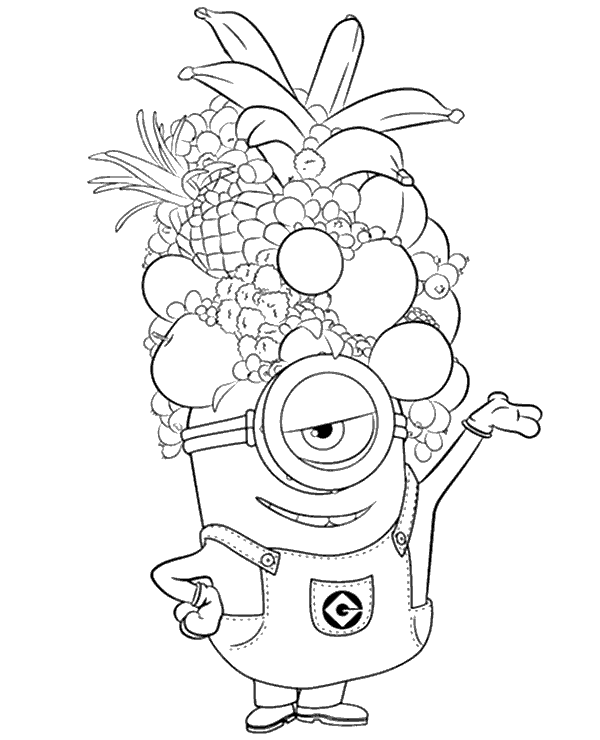 Coloring Pages Of Minions