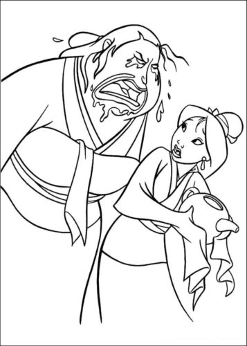 Coloring Pages Of Mulan