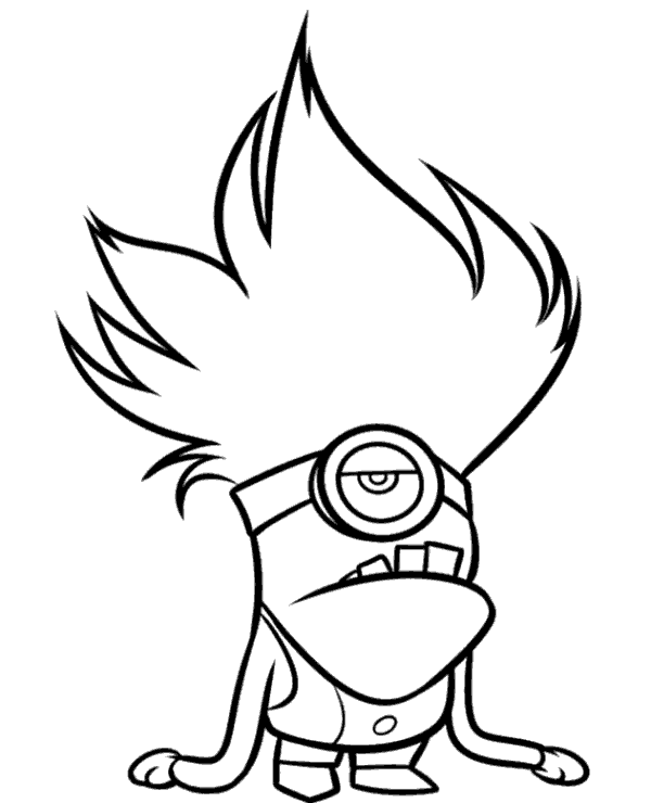 Evil Minions Coloring Pages