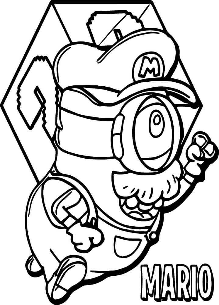 Minion Dressed As Mario