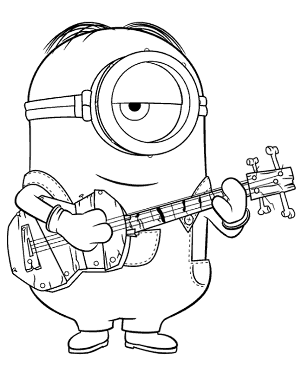 Minion Stuart With His Guitar