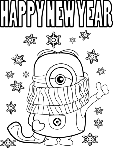 Minion Wishing Happy New Year