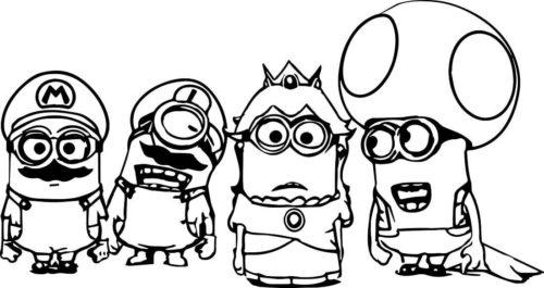 Minions Dressed As Mario