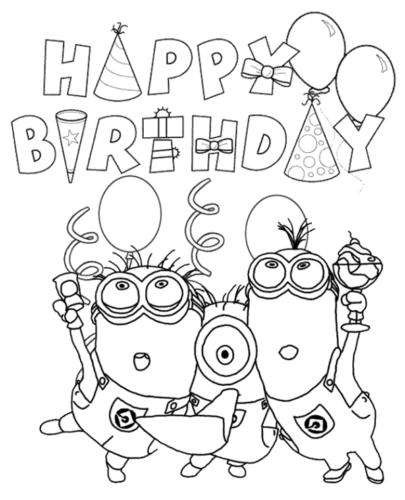 Minions Wishing You Happy Birthday